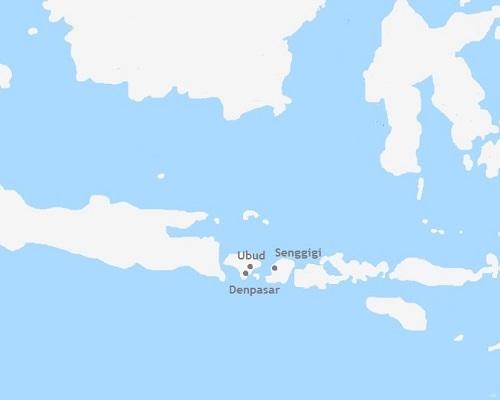 rondreis Indonesië kaart
