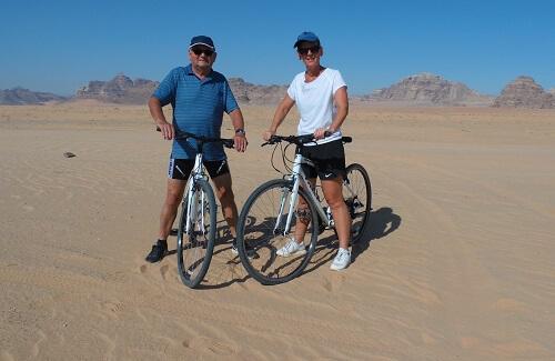 Fietsen Wadi Rum - Duo