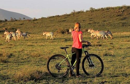 Fietssafari masai savanne