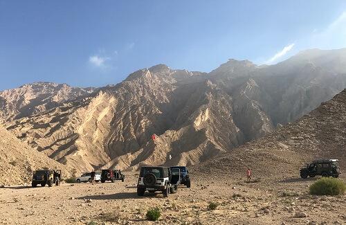 Off-road expeditie door Oman