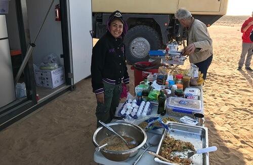 Diner in het Kamp