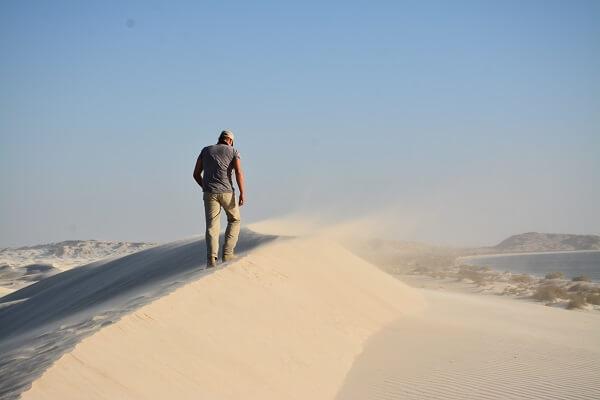 Wandelen in de Woestijn Oman